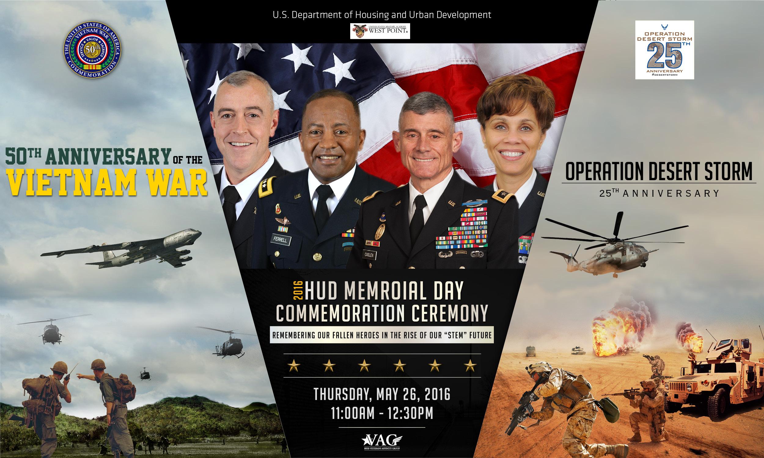 2016 HUD Memorial Day Commemoration Ceremony/50th Anniversary of the Vietnam War Commemoration/25th Anniversary of Desert Storm